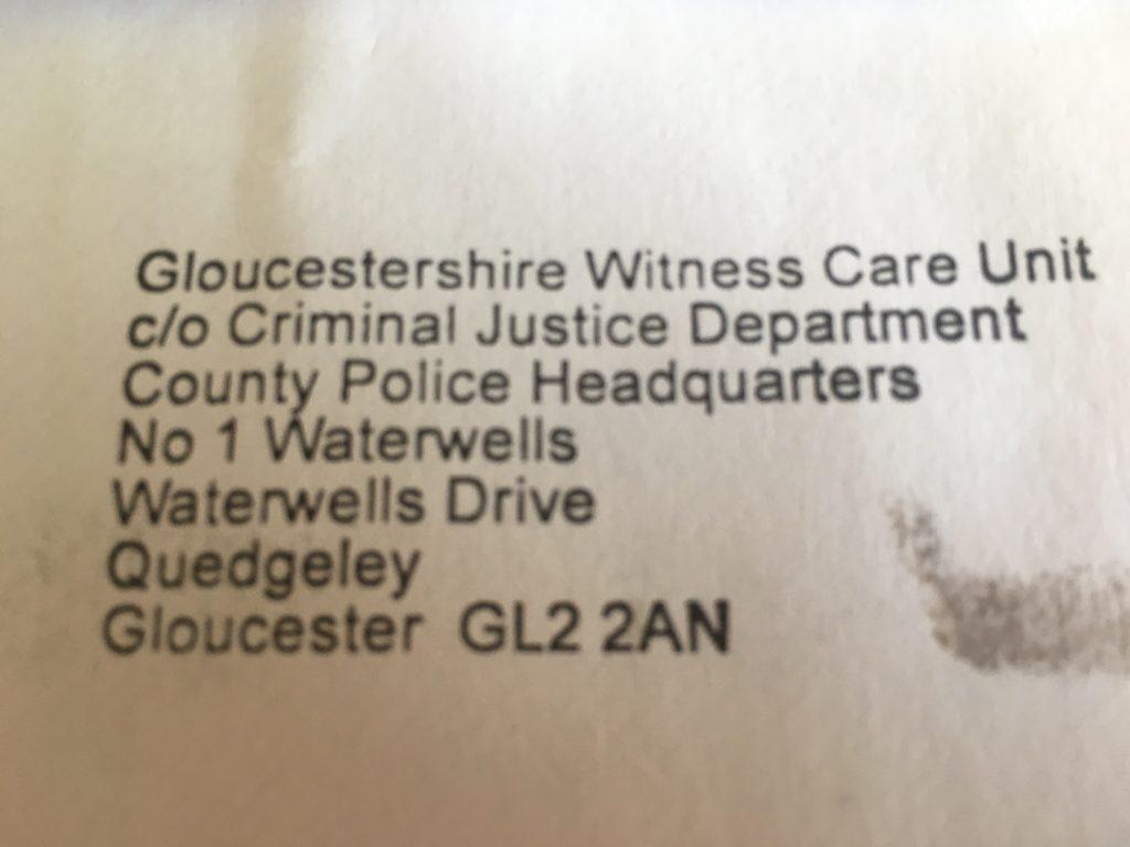 Witness letter, Police, 365