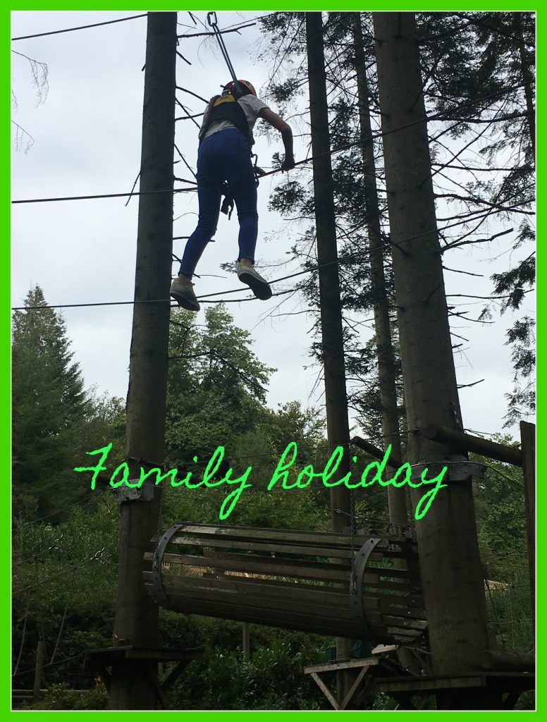 Family holiday, Center Parcs, Aerial Adventure