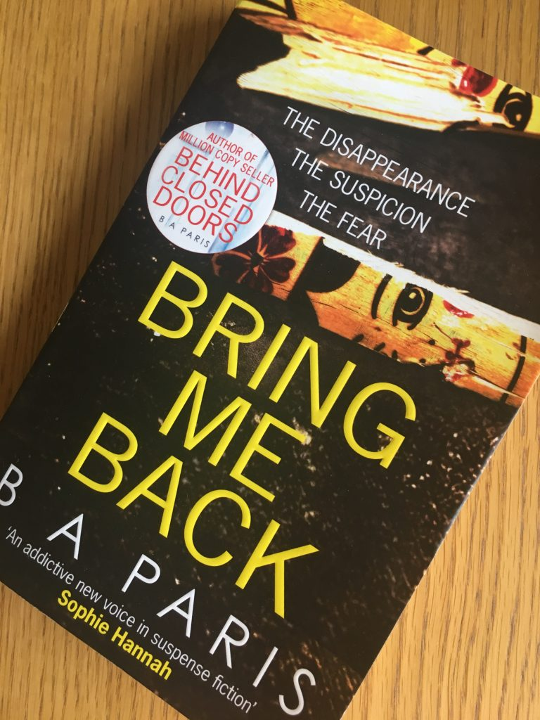 Bring Me Back by B A Paris, Bring Me Back, B A Paris, Book review
