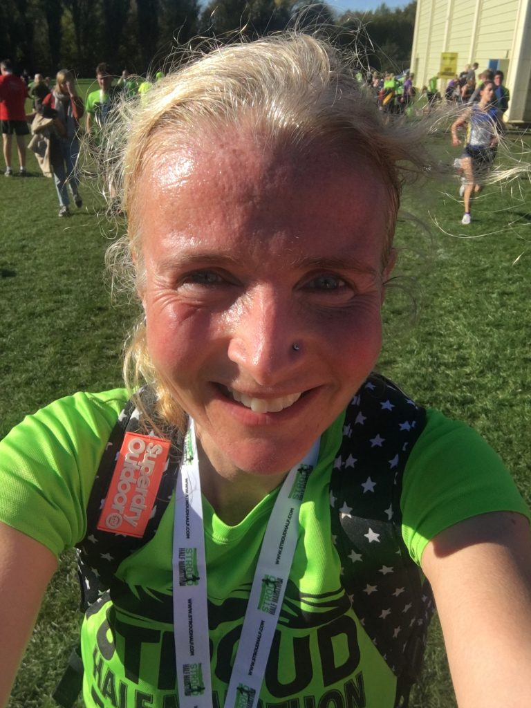 Stroud half marathon, Finisher, Selfie, Signing up for my first marathon