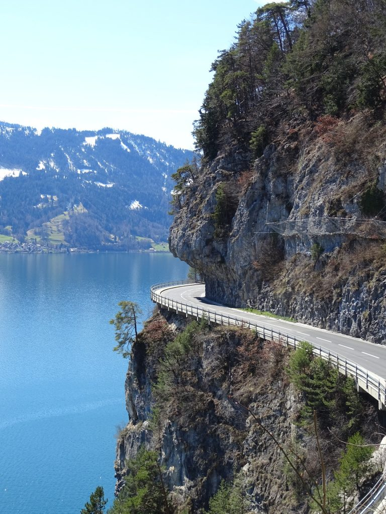 Alpine road, Swiss Alps, Alps, Switzerland, Holiday in the Swiss Alps