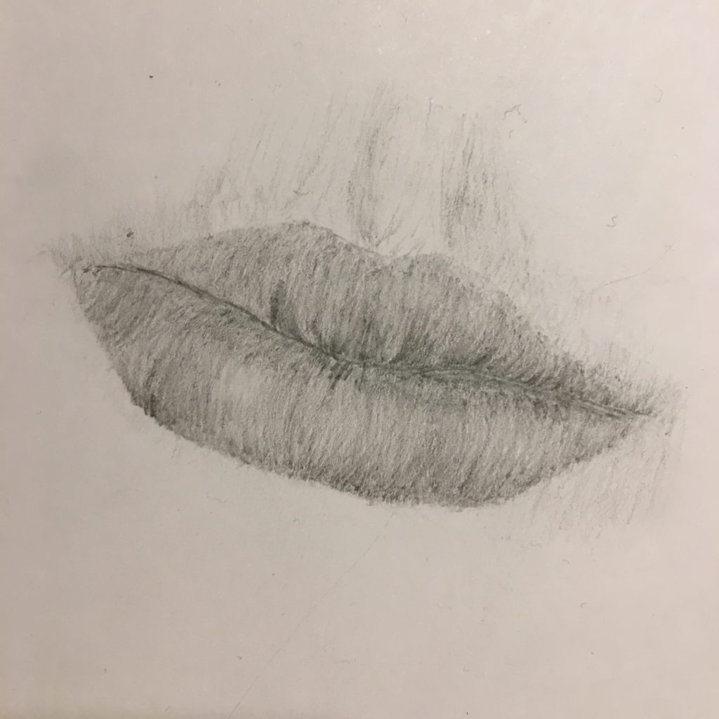 Drawing, Art, GCSE art, Lips, Son, 365