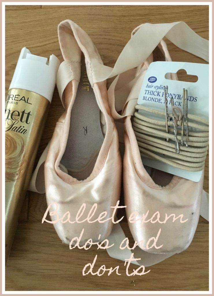 Ballet exam, Ballet exam tips, Ballet exam do's and don'ts, Ballet shoes, Pointe shoes