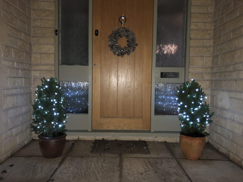 front door, Christmas decorations, christmas lights, Christmas wreath, 365
