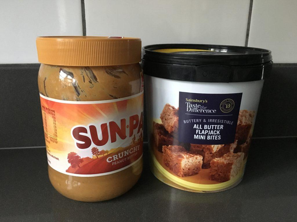 Peanut butter, Flapjacks, Marathon training, Marathon fuelling, Marathon fuelling experiments real food