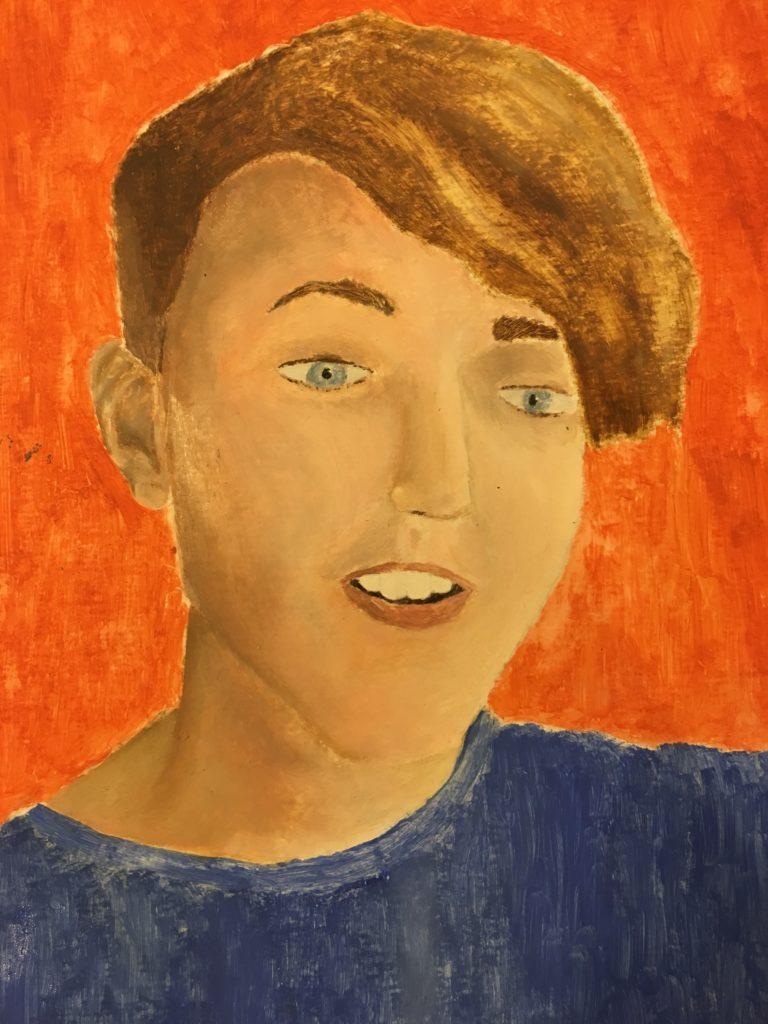 self portrait, son, artwork, oil painting, Silent Sunday, My Sunday Photo