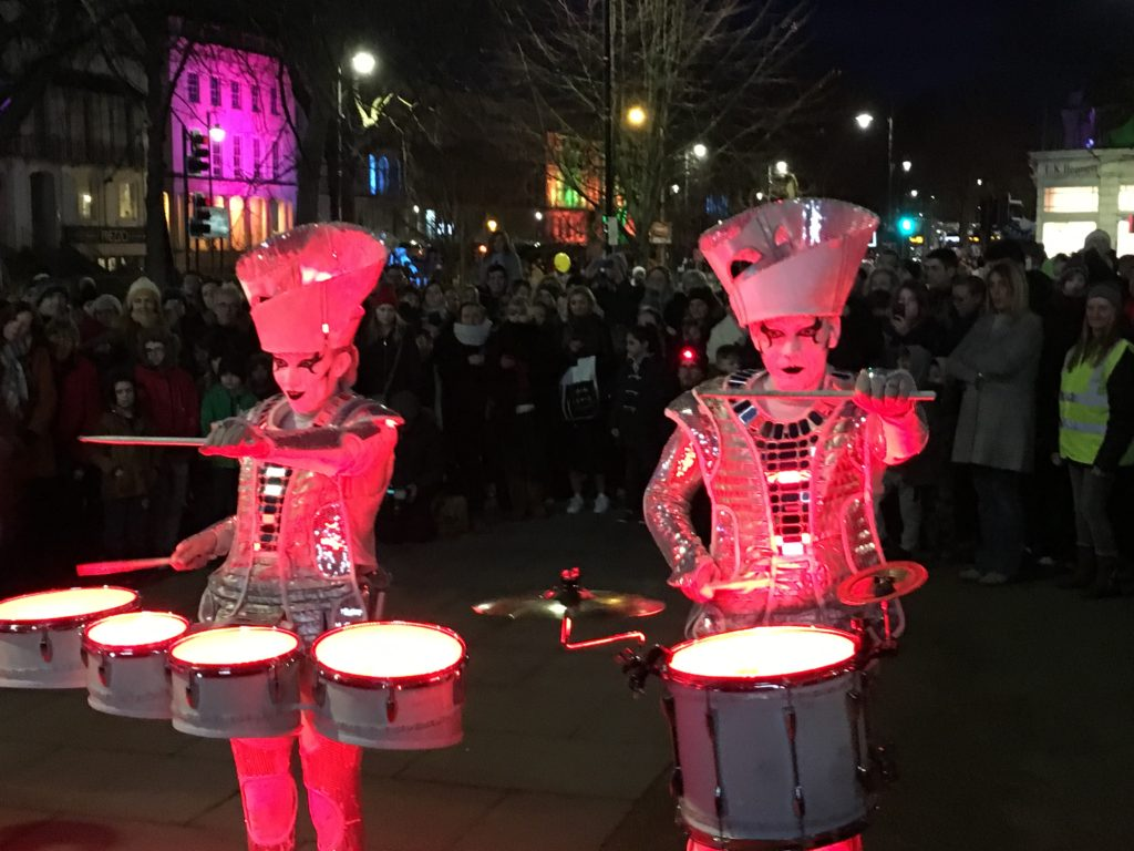 Spark drummers, Light Up Cheltenham, Silent Sunday, Sunday Snap