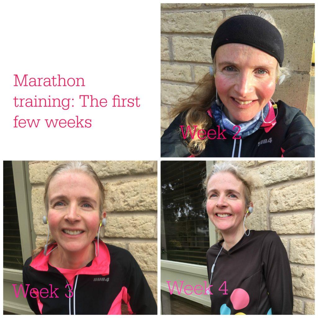 Marathon training, Running, Marathon training: The first few weeks