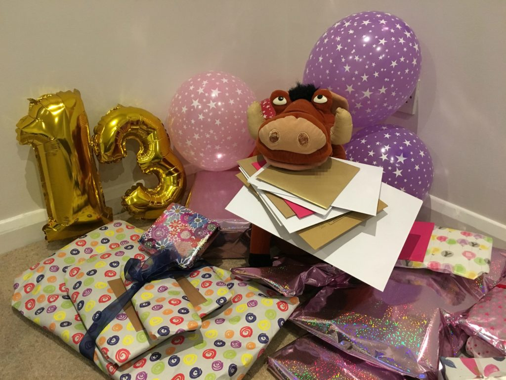 Birthday presents, 13th birthday, Pumba, Silent Sunday, Sunday Snap