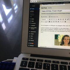 A blogging blip