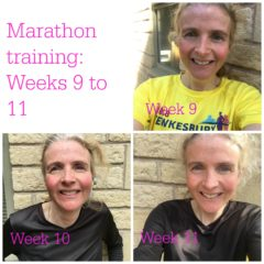 Marathon training: Weeks nine to 11