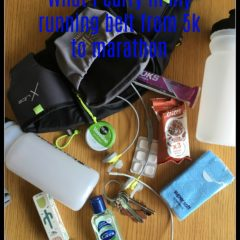 What I carry in my running belt – from 5k to marathon