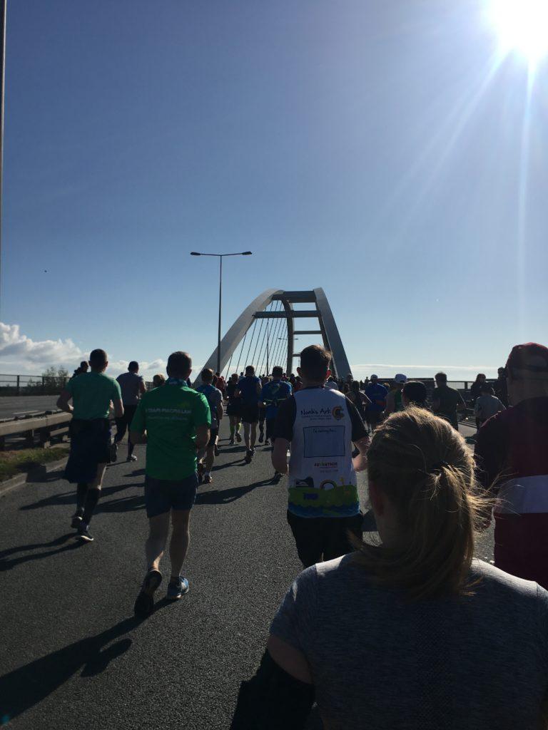 Newport marathon, Marathon, Bridge
