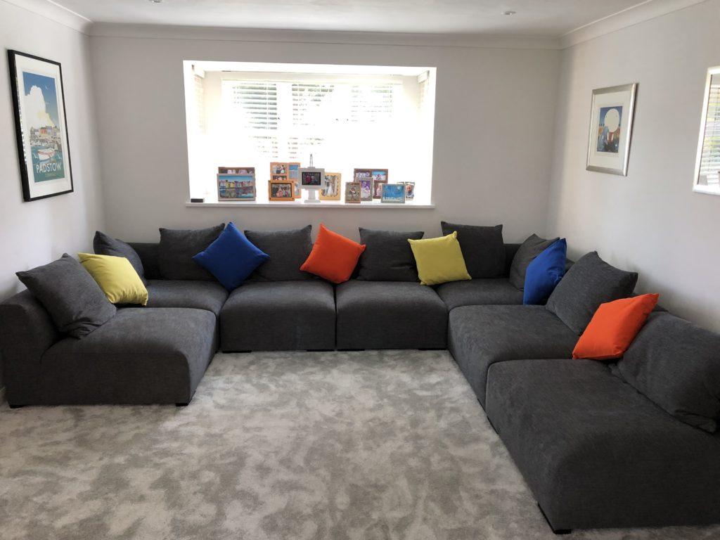 New settee, Sofa, Lounge, The new lounge