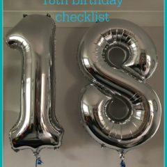 18th birthday checklist
