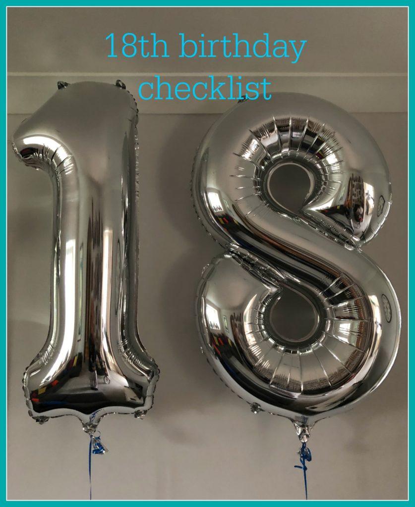 18th birthday, Balloons, 18th birthday checklist