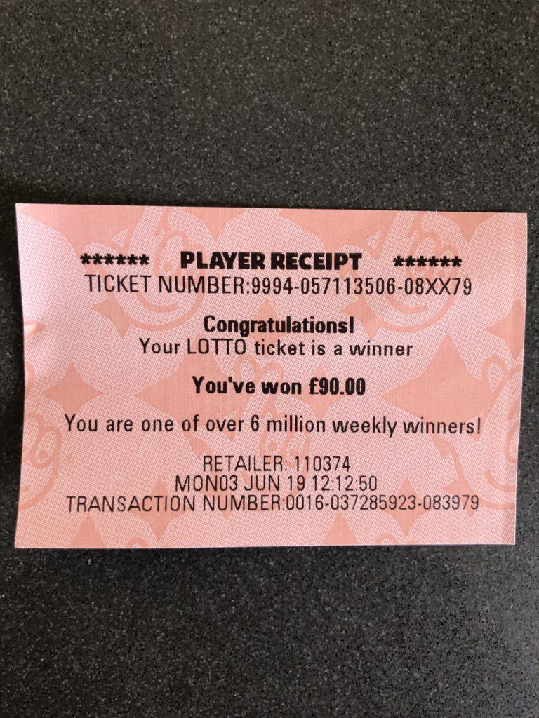 Lottery ticket, Lottery win, Winning ticket, 365