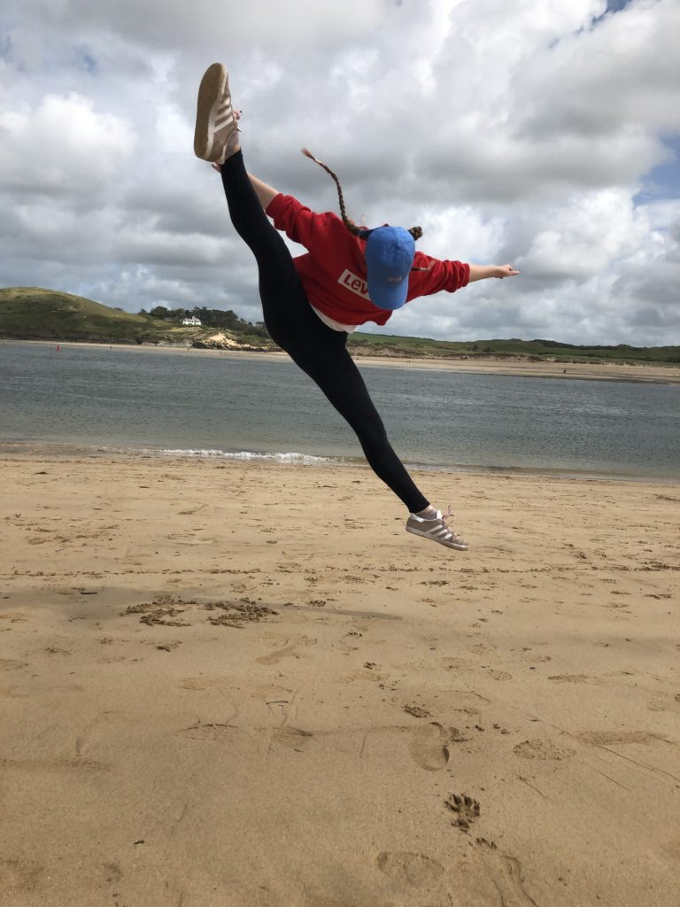 Daughter, Jumping, Beach, Silent Sunday, My Sunday Snapshot