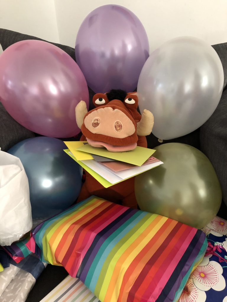 Birthday, Balloons, Presents, Pumbaa, Silent Sunday, My Sunday Snapshot