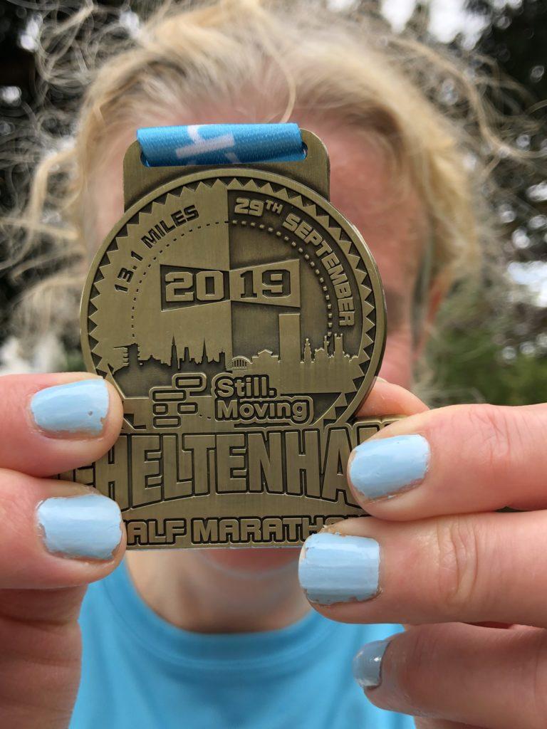 Cheltenham half marathon, Medal, Half marathon, Silent Sunday, My Sunday Snapshot