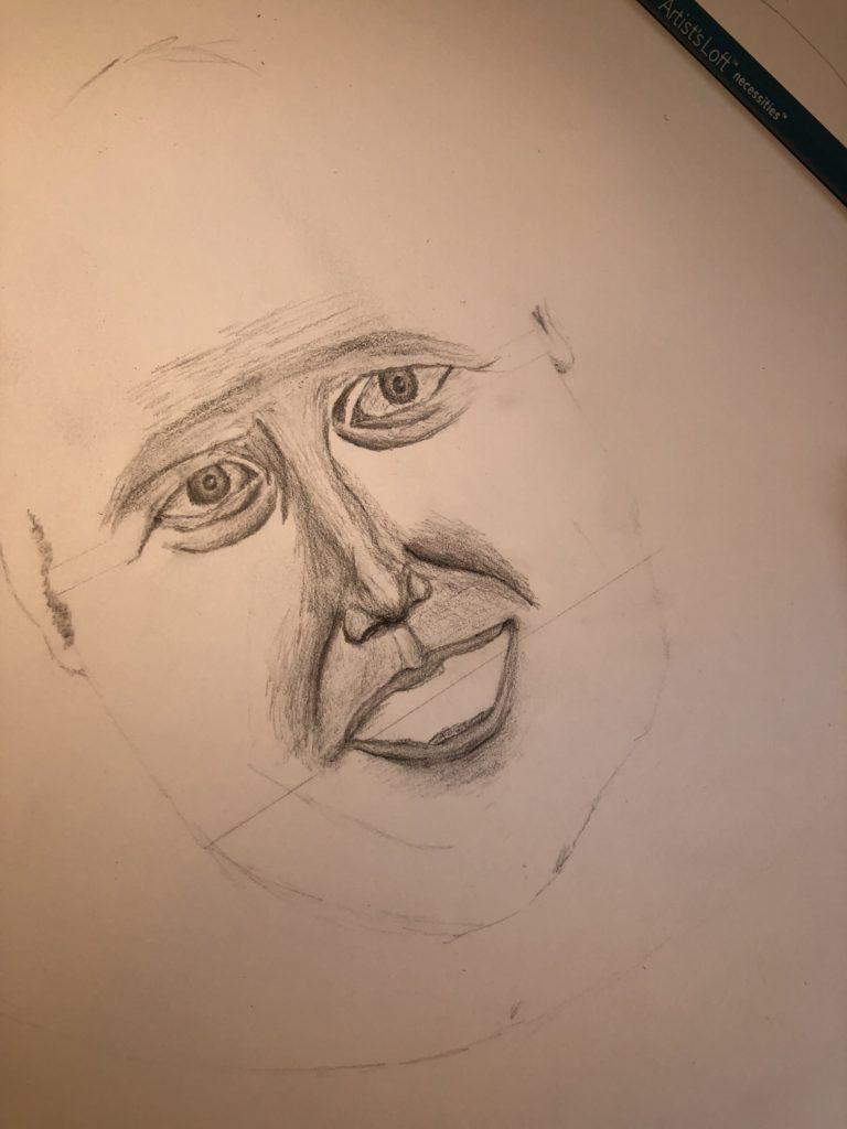 Boris Johnson, Drawing, GCSE art, Pencil sketch, 365