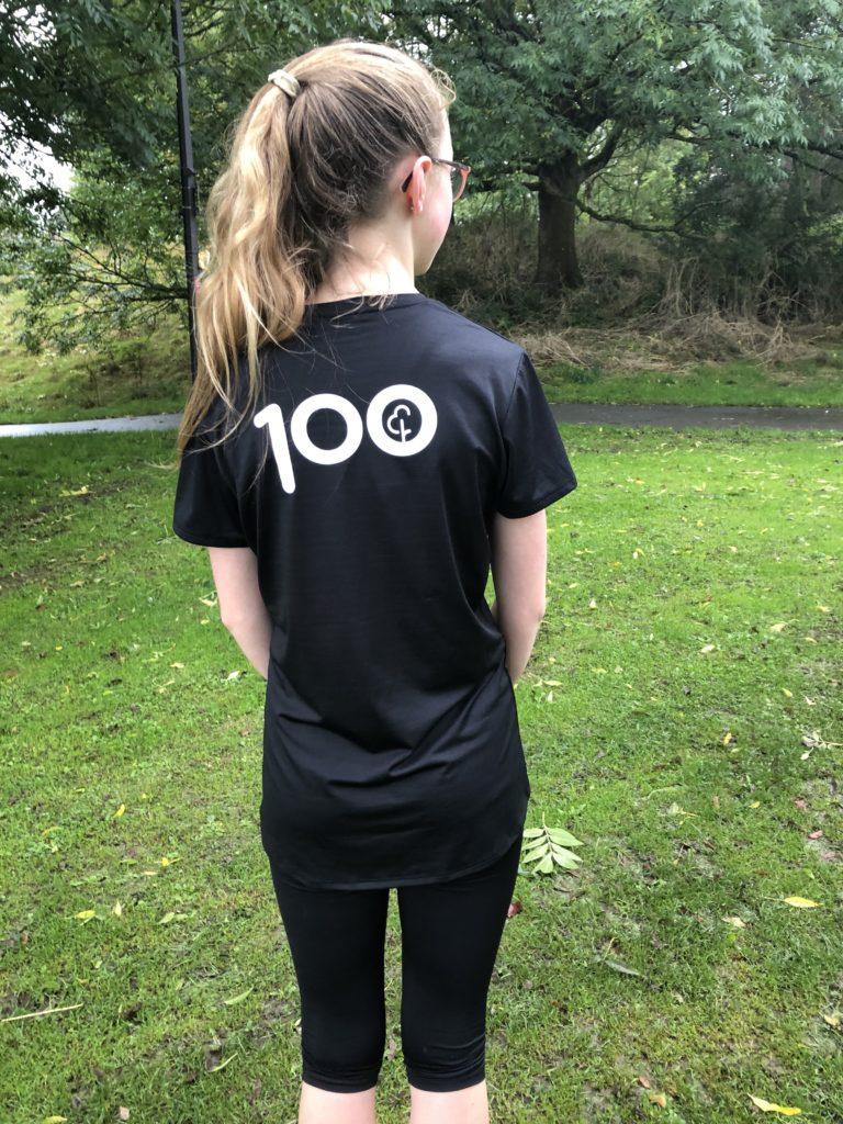 Daughter, parkrun, runner, 100th parkrun