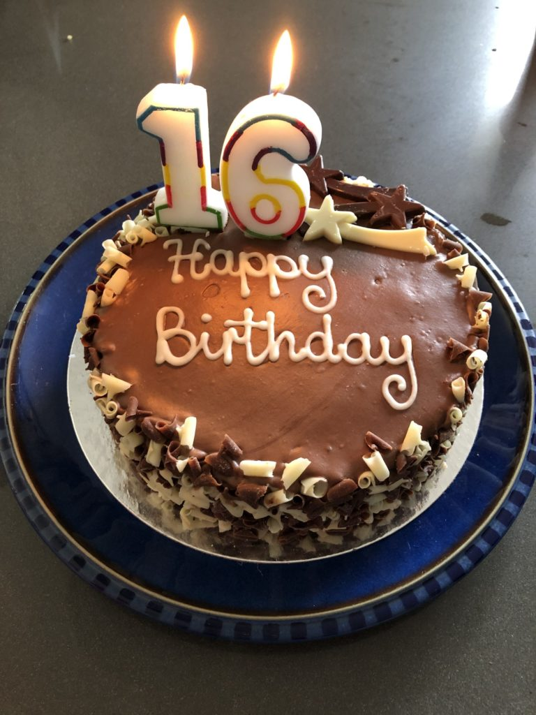 Birthday cake, 16th birthday, Son