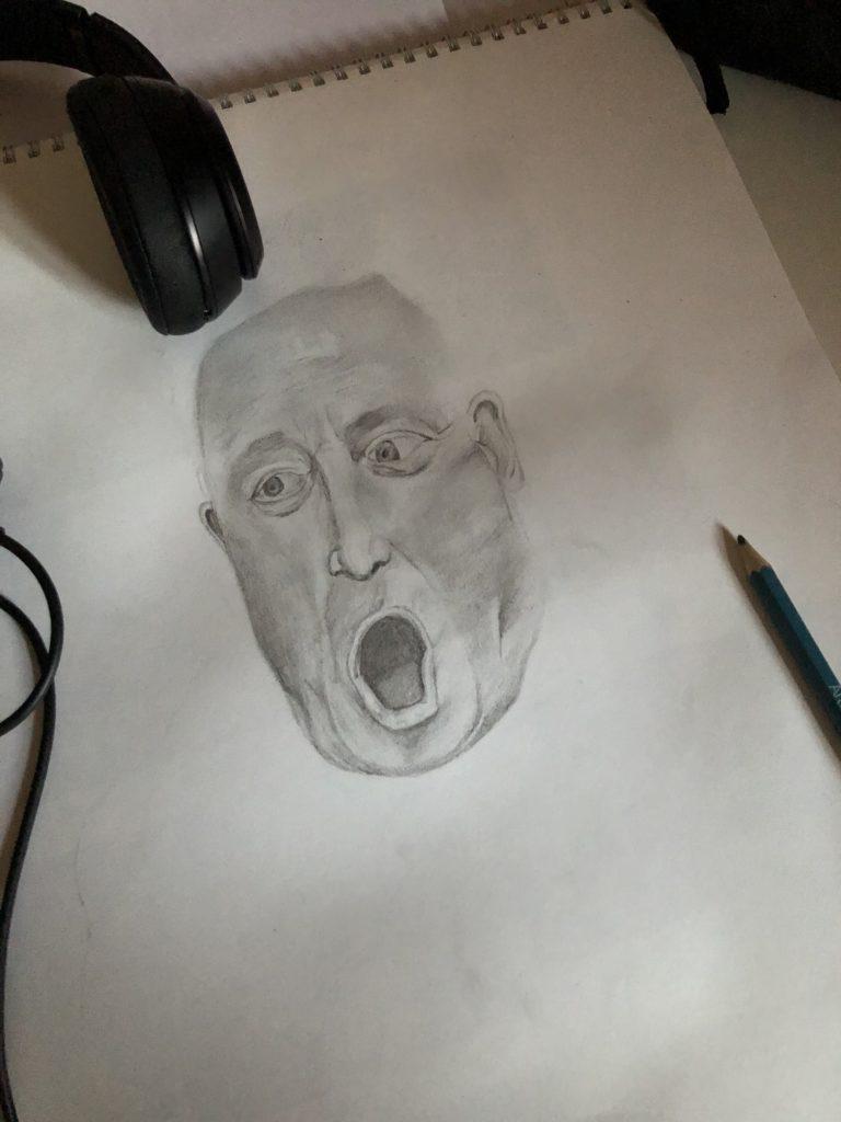 John Bercow, Sketch, Drawing, GCSE art, 365