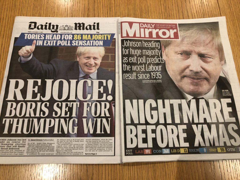Newspapers, Election, Boris Johnson, 365