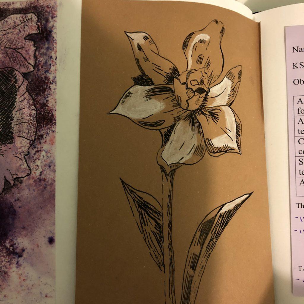 Artwork, Drawing, Art, Flower, Daughter, 365