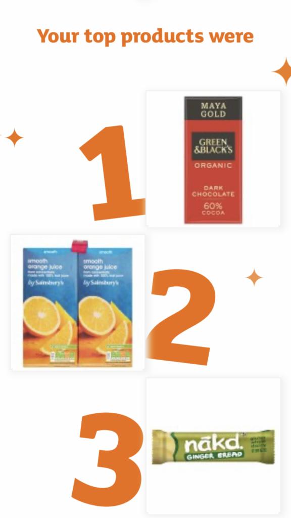 Nectar app, Sainsburys shopping, 365