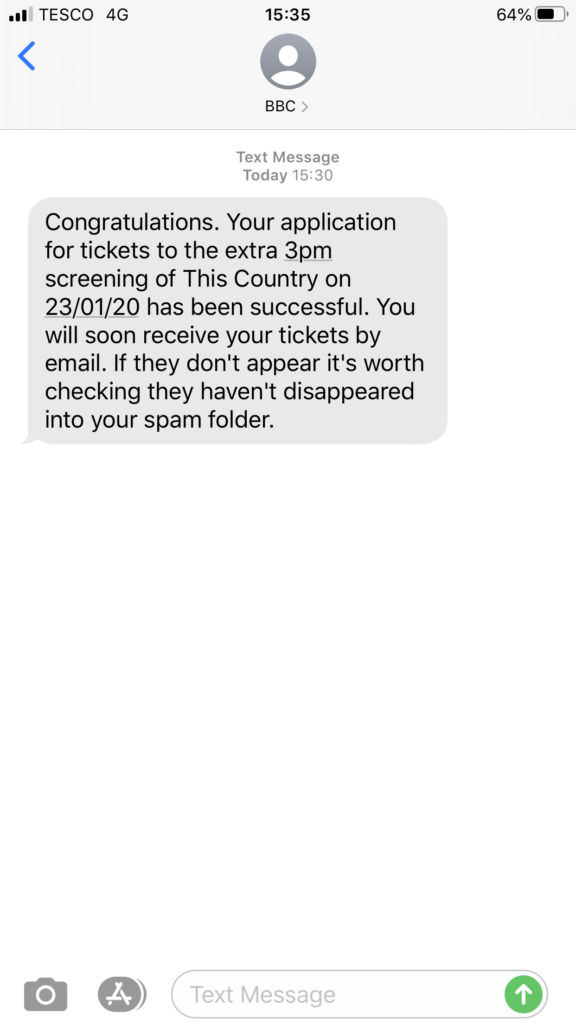 This Country, This Country ticket allocation, Text, 365