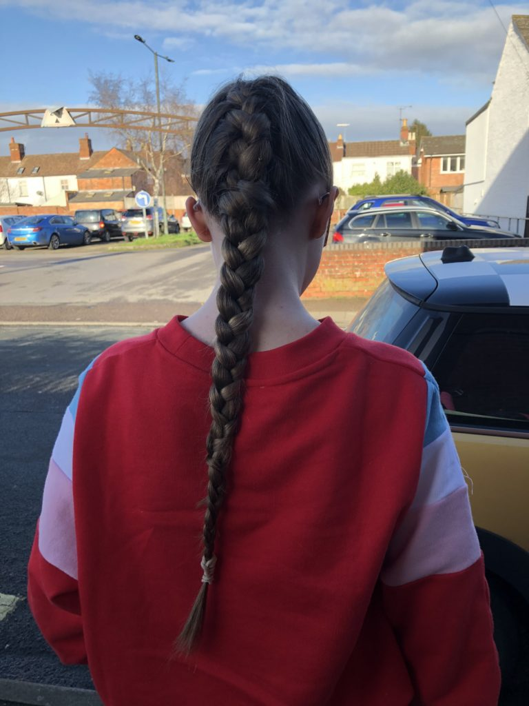 Daughter, Hair, French plait, 365, Panto