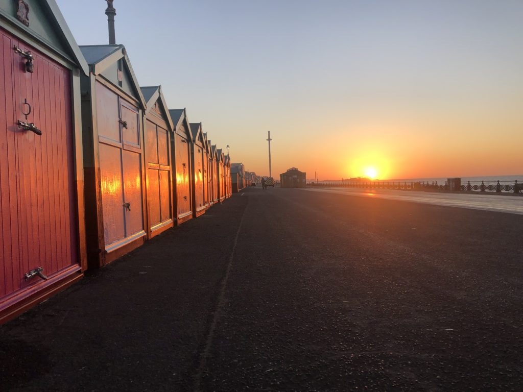 Sunrise, Brighton, Hove, Beach huts, Silent Sunday, My Sunday Snapshot