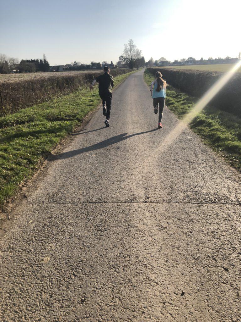 son, daughter, running, 366