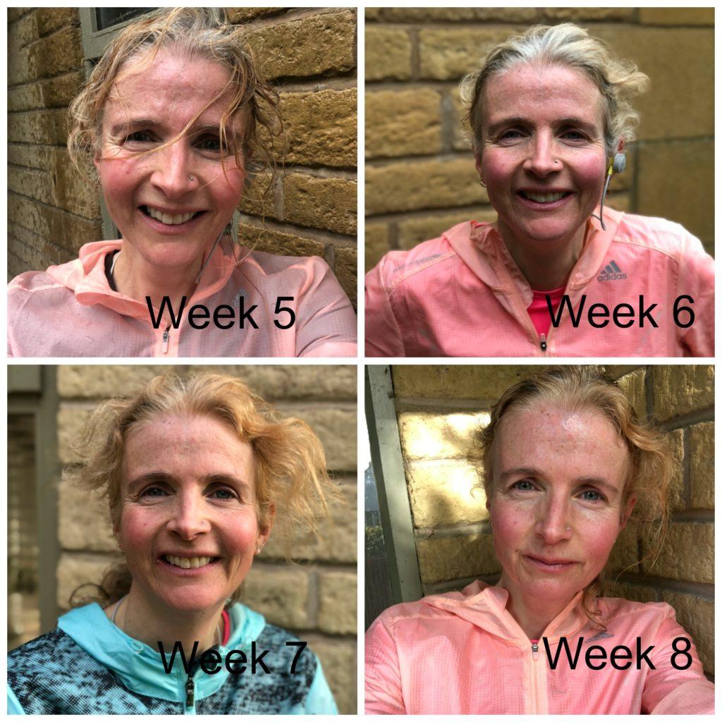 marathon training, running, selfies, marathon training weeks 5 to 8