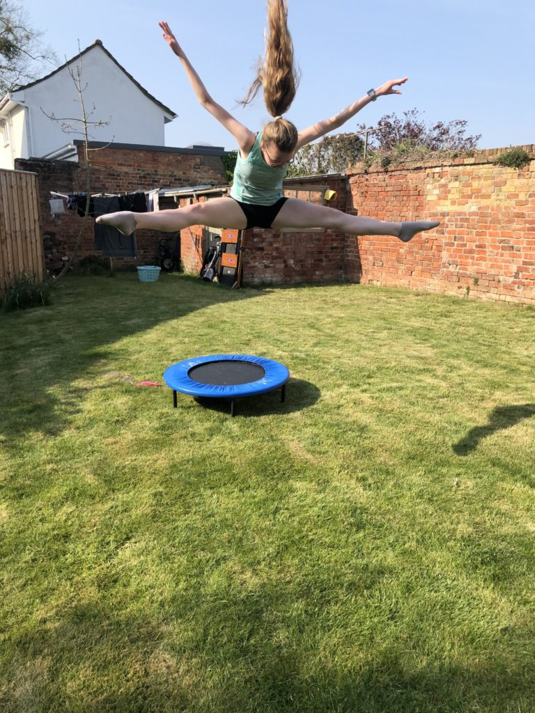 Daughter, Trampoline, Garden, Silent Sunday, My Sunday Snapshot