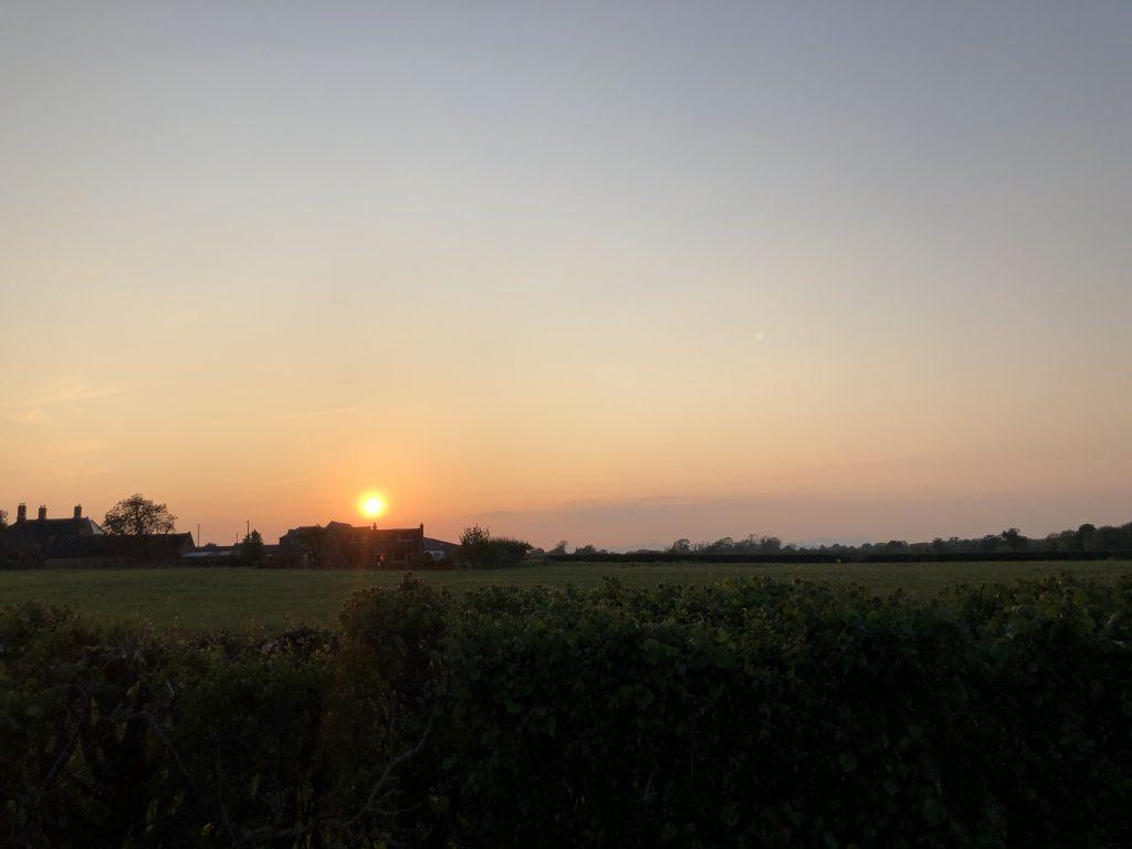 Sunset, Countryside, Walking, 366