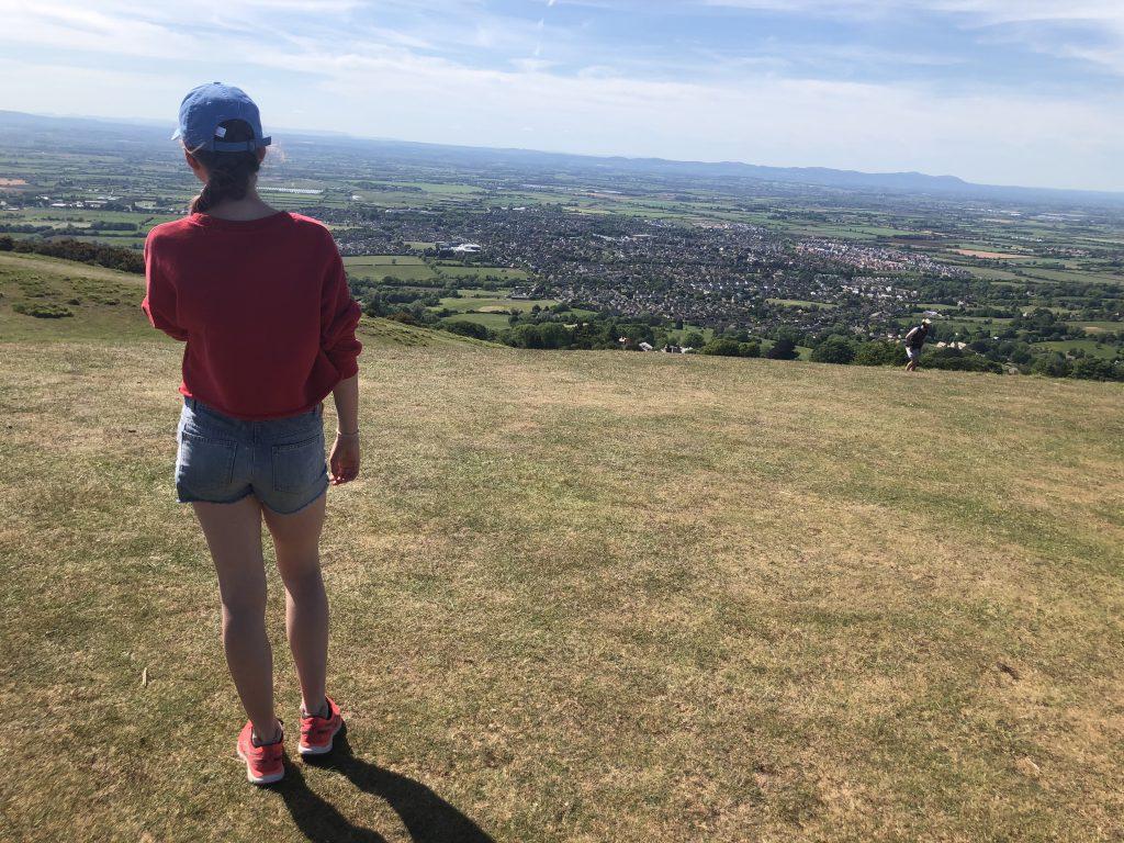 Daughter, Hill, Landscape, 366