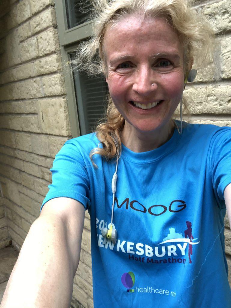 running selfie, runner, Tewkesbury half marathon, 366