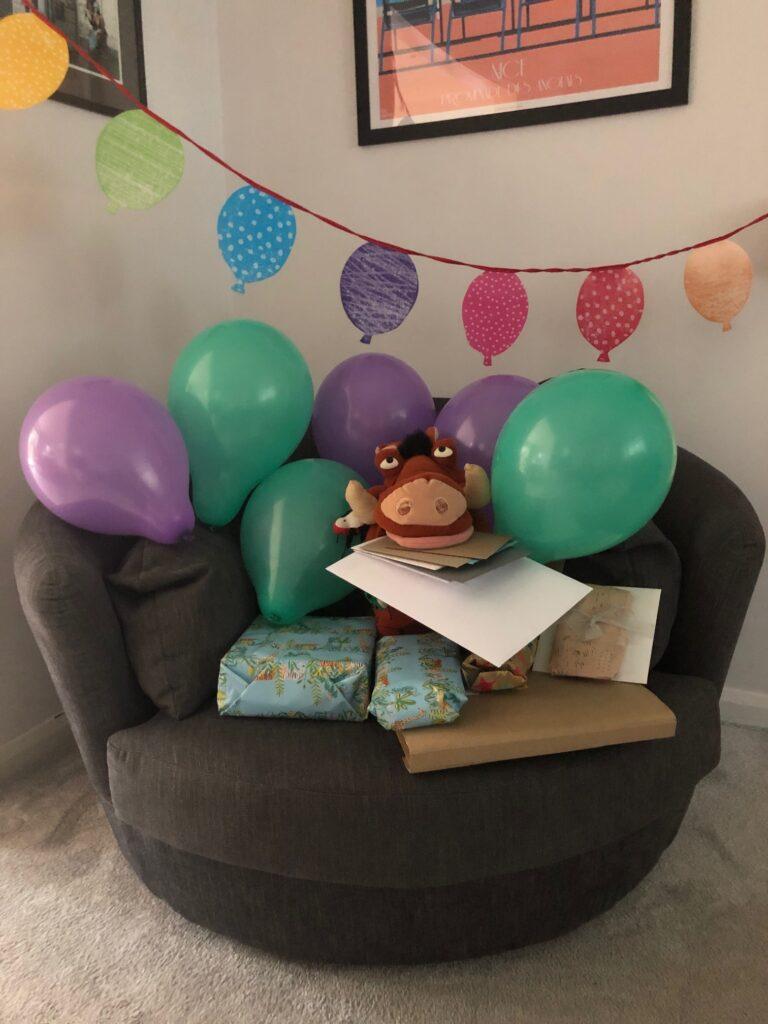 Birthday, 19th birthday, Pumba, Presents, Balloons, Cards, Son, Silent Sunday, My Sunday Photo