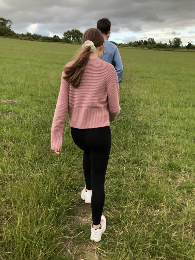 Daughter, Walking, Hair, Haircut, Shorter hair