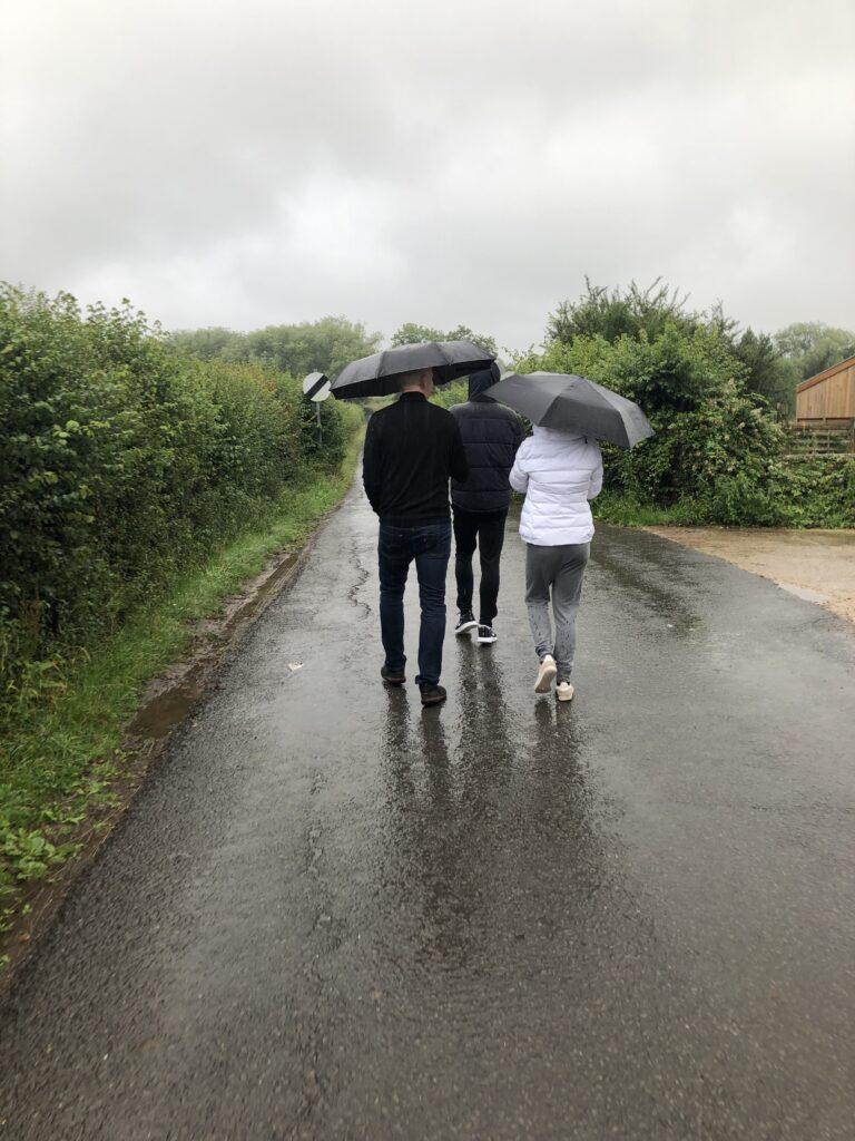 Rainy day, Umbrellas, Family, 366