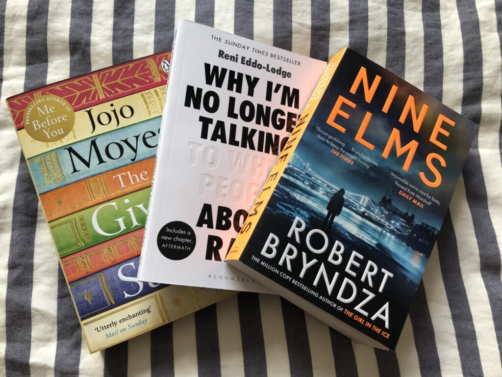 Books, JoJo Moyes, Robert Bryndza, Why I'm No Longer Talking to White People About Race, 366