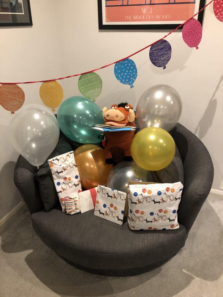 17th birthday, Balloons, Pumba, Birthday presents, Silent Sunday, My Sunday Photo