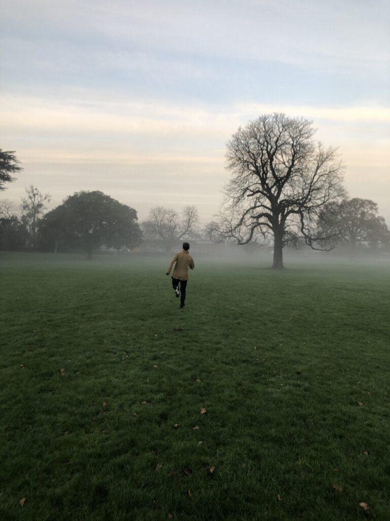 Running, Mist, Sunset, Son, Silent Sunday, My Sunday Photo