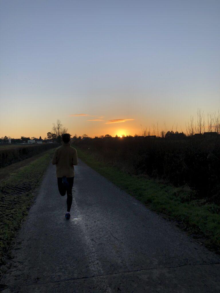 Sprinting, Sunset, Running, Son, Teenager, Silent Sunday, My Sunday Photo