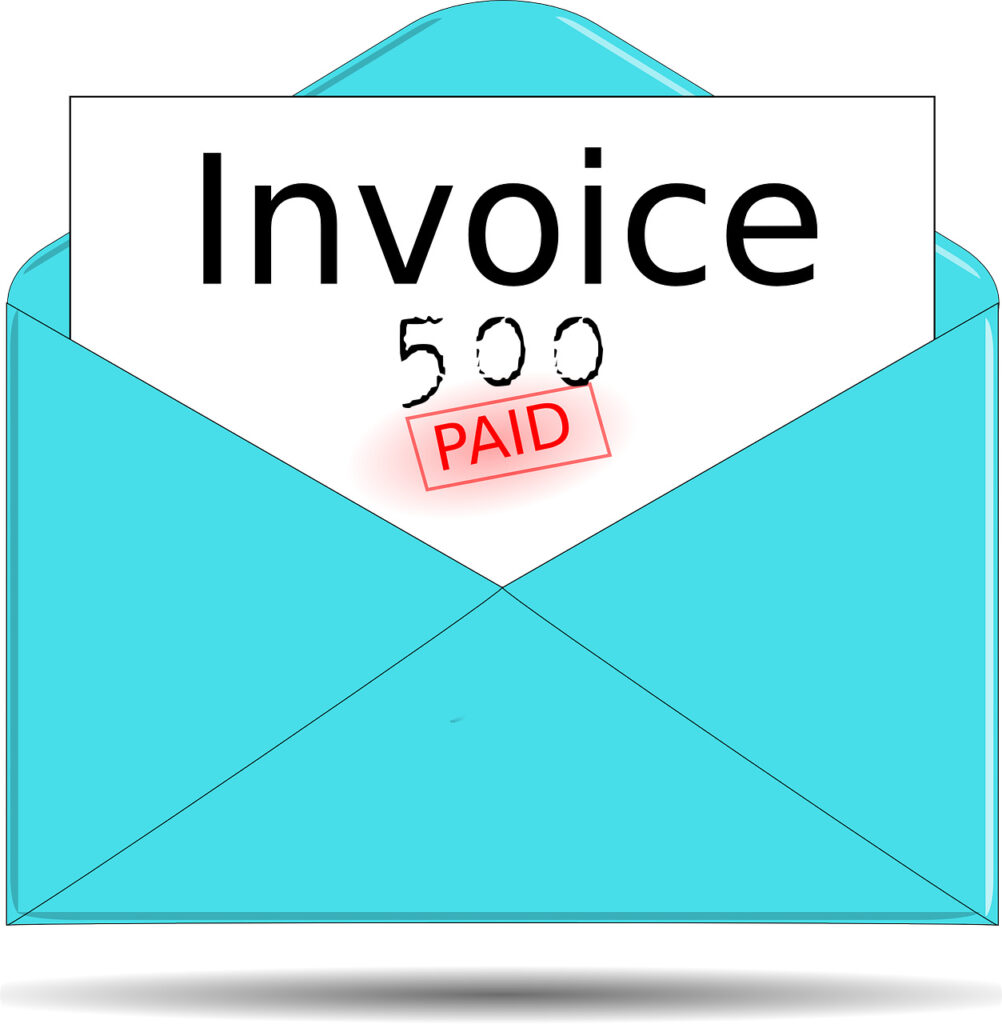 Invoice, Envelope, 500th invoice