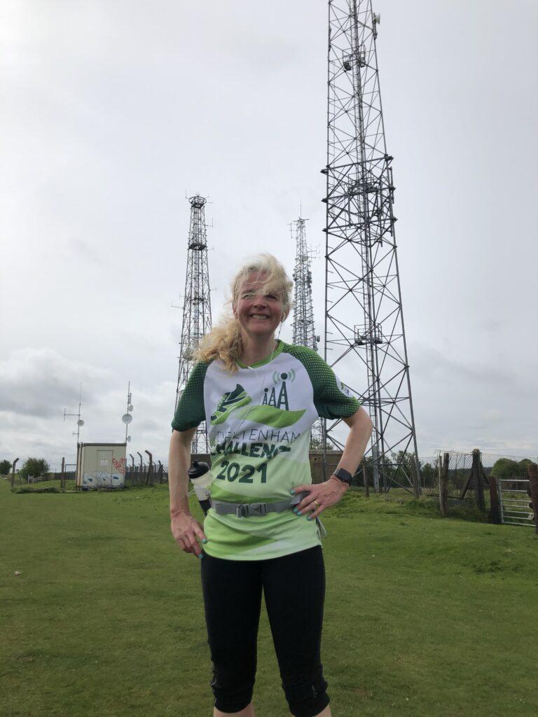 Cheltenham Challenge half marathon, Running, Runner, Cleeve Hill, Pylons, Three Sisters
