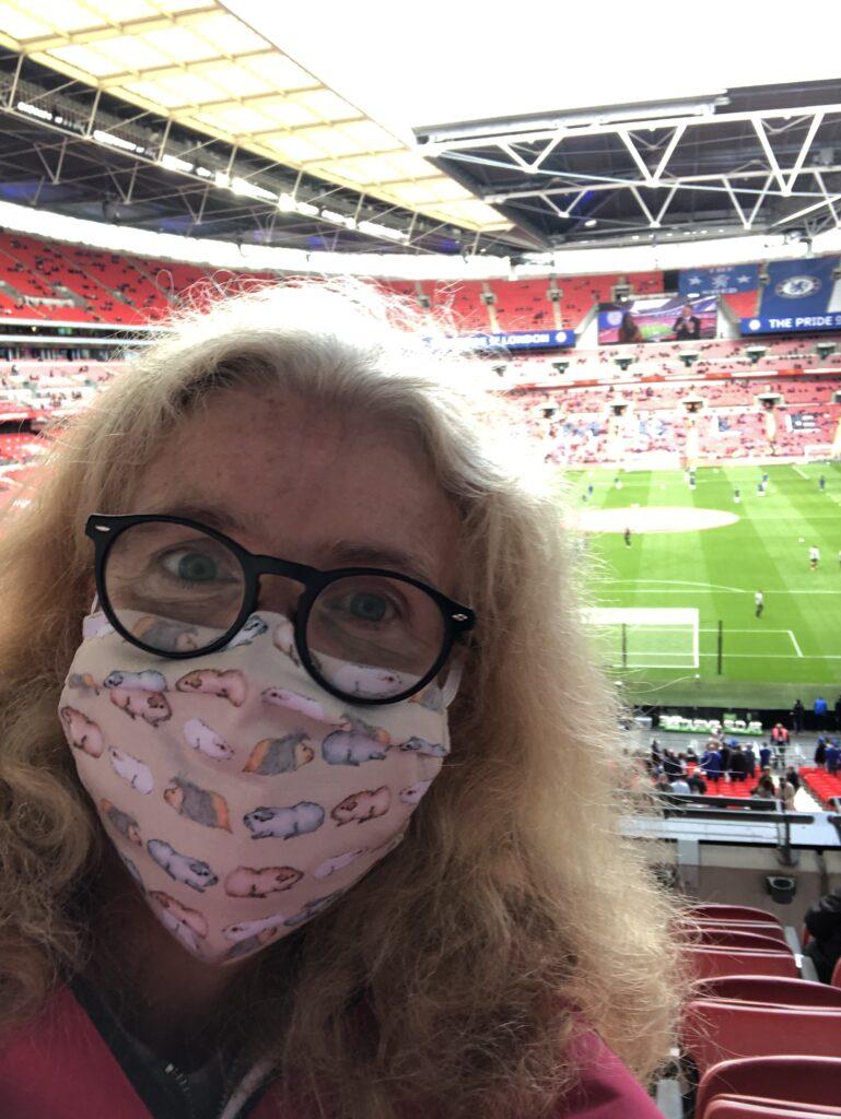 FA Cup final, Selfie, Mask, Wembley Stadium